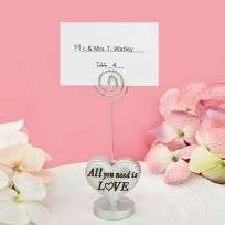 All You Need Is Love Place Card / Photo Holder